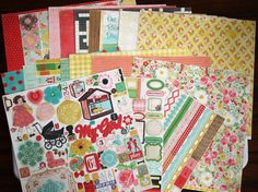 Crate Paper Emma's Shoppe Collection for cards scrapbook paper stickers vintage #CratePaper