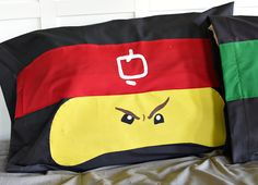 Make a LEGO NINJAGO Pillow Case for the kids! This fun pillow will make a great gift idea for boys who love LEGOS and will brighten their room.