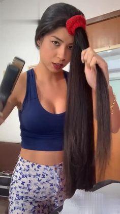 Hair Up Styles, Long Hair Wedding Styles, Medium Hair Styles, Easy Hairstyles For Long Hair, Curled Hairstyles, Diy Hairstyles, Hair Curling Tips, Curl Hair With Straightener, Diy Hair Curls