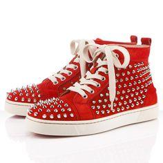 Christian Louboutin Sneakers Louis Women's Flat Spikes Suede Red $208.00  http://www.christianlouboutinsany.com/sale/Christian-Louboutin-Sneakers-Louis-Women-s-Flat-Spikes-Suede-Red-302.html