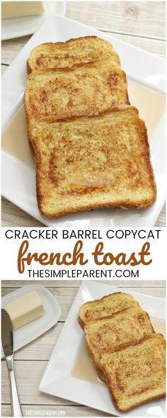 Make this easy Cracker Barrel Copycat French Toast recipe! It's a delicious fren. - Make this easy Cracker Barrel Copycat French Toast recipe! It's a delicious french toast recipe t - French Toast Rolls, Best French Toast, Overnight French Toast, French Toast Bake, French Toast Casserole, Simple French Toast Recipe, French Toast Recipes, Classic Recipe, Cracker Barrel French Toast