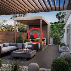 Mit Ihrer Dachterrasse können Sie viele Dinge tun, und diese Gestaltungsideen .... #Modern Rooftop Terrace Design, Rooftop Garden, Rooftop Decor, Balcony Garden, Garden Gazebo, Garden Bar, Pergola With Roof, Pergola Patio, Pergola Kits