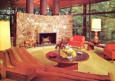 Mid Century Modern Mid-Century modern is an architectural, interior, product and graphic design that generally describes century . Mid Century Modern Living Room, Mid Century Decor, Mid Century House, Mid Century Modern Design, Mid Century Furniture, Retro Living Rooms, Living Vintage, My Living Room, 1970s Living Room