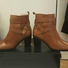 Ralph Lauren booties Never worn before Ralph Lauren tan booties! Inside zipper and easy walkable chunky heel. Still in original packaging! Make an offer! :) Ralph Lauren Shoes Ankle Boots & Booties