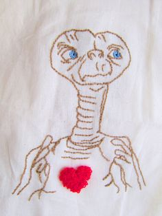 The best art and craft from Chihuahua to the world Et embroidery canvas por pomponsparty en Etsy, $18.00