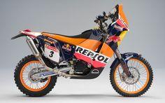 KTM Repsol Dakar Rally Bike... sweet.