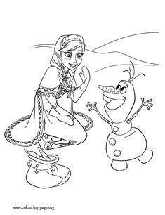 Looks like Olaf is having fun with Anna on ice. Just print out and enjoy this awesome Disney Frozen movie coloring page!