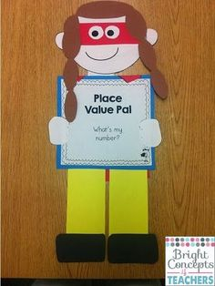 Looking for a fun way to teach place value?Superhero Place Value POWer pack includes: anchor charts, activities and craftivity $