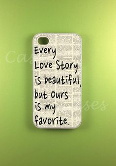 Iphone 4s Case - Our Story Iphone Case, I don't have a love story yet but hopefully will have one some day  im not even allowed to date and im in highschool so i don't have a love life