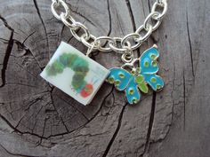 Simple HungryCaterpillar Charm Bracelet with Book by sophiesbeads, $9.99