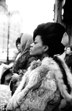 Diana Ross (and a Supreme?), 1965. Photo by Michael Ochs -- She held me when I was at baby :)