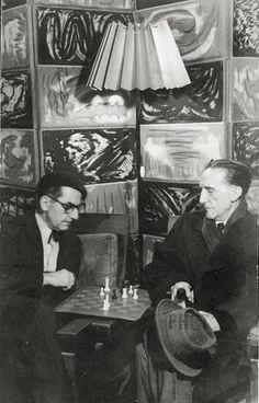 Man Ray and Duchamp #chess