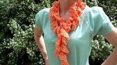 infinity scarf crochet - YouTube