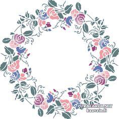 Kukka-ympyrä 5 | yksikerroksinen sabluuna | ostaa verkosta