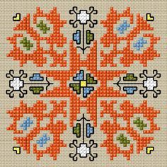 BULGARIAN EMBROIDERY- Cross stitch pattern PDF format