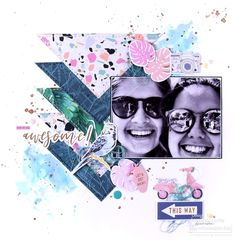 Rosie's Studio Vacay, Daisy Chain and Clover Lane Scrapbook Layouts, Scrapbooking, Celebrating Friendship, Daisy Chain, Happy Moments, Cute Pattern, Are You Happy, Traveling By Yourself, The Incredibles