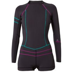 PrAna MARA Wetsuit (1,925 MXN) ❤ liked on Polyvore featuring swimwear and black