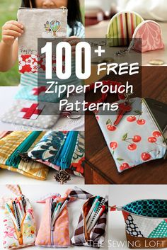 Flower Zipper Pouch Pattern - The Sewing Loft