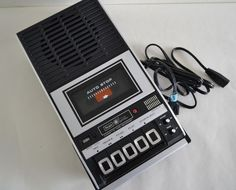 dd7cf4431b6 Vintage Sears Portable AC DC Cassette Player Recorder 13 Reasons Why Rare  70s