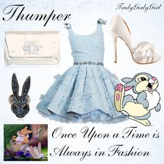 Disney Style: Thumper by trulygirlygirl featuring platform pumps Disney Character Outfits, Disney Princess Outfits, Cute Disney Outfits, Disney Themed Outfits, Character Inspired Outfits, Disney Bound Outfits, Cool Outfits, Fashion Outfits, Disney Clothes