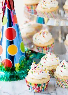 Vanilla Cupcakes with Vanilla Buttercream