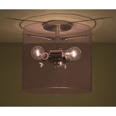 "Besa Lighting Pahu 1 Light Semi Flush Mount Shade Color: Smoke, Size: 11.75"" H x 15.75"" W x 15.75"" D"