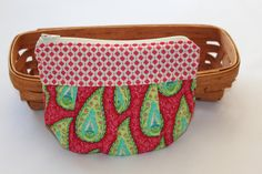 Makeup Bag / Zippered Pouch / Clutch  Summer House by Lily Ashbury for Moda by Caroline from Ohio