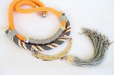 Statement Rope Tribal Necklace Chunky Necklace Native by vess65