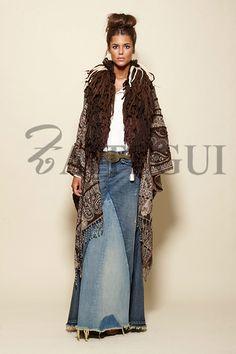 Zara Fashion, Kimono Fashion, 70s Fashion, Womens Fashion, Boho Chic, Bohemian, Play Clothing, Cool Outfits, Casual Outfits