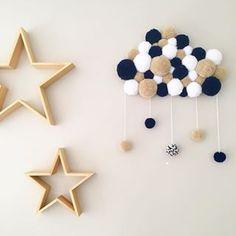 new ideas diy dco laine Baby Decor, Kids Decor, Diy Room Decor, Nursery Decor, Diy Crafts For Kids, Home Crafts, Pom Pom Crafts, Creation Deco, Deco Floral