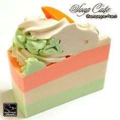 Champagne Peach Soap Cake Slice - 250-290g