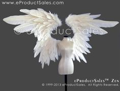 Original eProductSales White Feather Angel ZEN BJD doll Wings