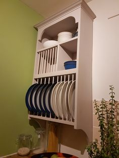 Custom made plate rack & Handmade Solid Pine Plate Rack (Available In 2 Different Finishes ...