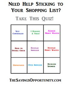 Need Help Sticking to Your Shopping List? Take This Quiz!