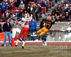 Edmonton Eskimos Football - Marco Cyncar Td Catch 1986 by Terry Elniski Warren Moon, Canadian Football League, Grey Cup, Retro Photography, Football Art, Lions, Lion, Vintage Photography