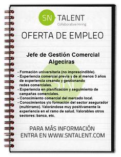 Jefe de #Gestión #Comercial en #Algeciras