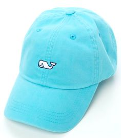 Vineyard Vines Signature Whale Logo Baseball Hat- Aqua Blue from Shop Southern Roots TX