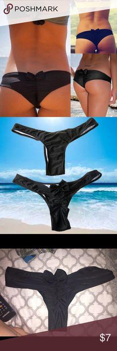 Super cheeky brazilian bikini bottoms Super cheeky!!! and super sexy. Tag says medium but will fit XS-Small never used. cheaper when bought through Ⓜ️ercari Swim Bikinis