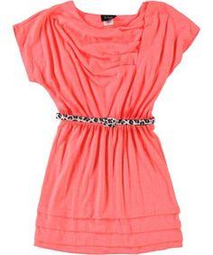"2-Hip ""Drape Escape"" Belted Dress (Sizes 7 - 16) - neon coral, 16 2-Hip,http://www.amazon.com/dp/B00BHOYSGA/ref=cm_sw_r_pi_dp_UyJqrb0Z95MCABJZ"