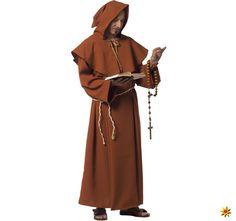 Herren Kostüm Mönch Dominikus | Krause & Sohn Onlineshop Monk Costume, Priest Outfit, Armor Clothing, Traditional Dresses, Fancy Dress, Cowl, Wrap Dress, Religion, Raincoat