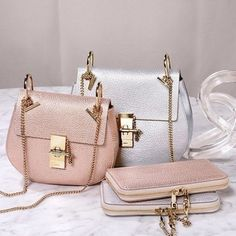 Chloe Drew Mini Bag in Cement Pink- Chloe drew cross body bags http://www.justtrendygirls.com/chloe-drew-cross-body-bags/