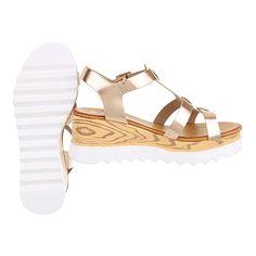 Riemchensandalen Damenschuhe Knöchelriemchen Riemchen Schnalle Ital-Design Sandalen / Sandaletten: Amazon.de: Schuhe & Handtaschen