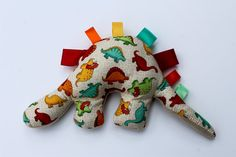 Gorgeous taggy toy dinosaur taggie toy gift for by SewThereWeGo