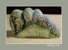 """Lab Art: """"SPRING TOES"""" ~ Salvaged, and transformed, cast-off plaster from Orthotic & Prosthetic lab(s). created: 2002 Jo Ann Smith-Young"""