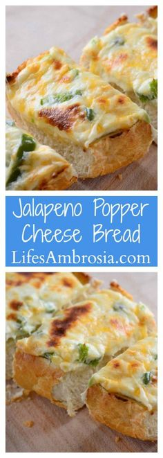 Cheesy and spicy, this Jalapeno Popper Cheesebread is the ultimate game day snack!