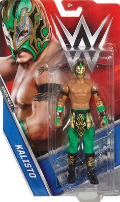 WWE MATTEL RAW WRESTLING FIGURE KALISTO WITH BLUE ATIRE NEW!!!,