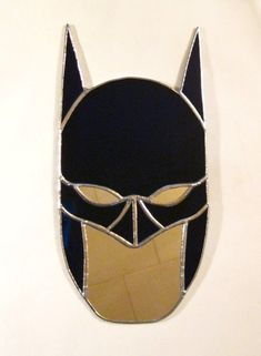 Batman, me? -Stained Glass Mirror