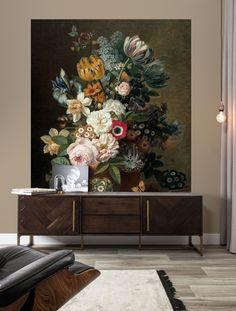 Behangpaneel 190 x 220 cm - KEK Amsterdam Wallpaper Panels, Of Wallpaper, Pattern Wallpaper, Amsterdam Wallpaper, Botanical Interior, 3 Living Rooms, Interior And Exterior, Interior Design, Victorian Homes