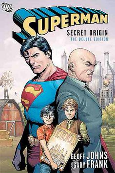 Superman Secret Origin-The superstar team of writer Geoff Johns and artist Gary Frank redefine the origin of Superman for the 21st century. Witness a whole new look at the beginnings of Lex Luthor, The Legion of Super-Heroes, Lois Lane, Metallo, Jimmy Olsen, The Parasite and more of your favorite characters from the Superman family. It's a look at the mythic past of the Man of Steel with an eye toward the future.