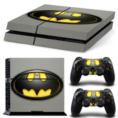 Batman Comics Decals For Sony PlayStation 4 Skin Stickers Console Controller Playstation 4 Console, Batman Logo, Ps4 Controller, Xbox One S, Legos, Consumer Electronics, Stickers, Cover, Accessories